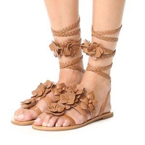 New TORY BURCH Blossom Gladiator Sandals Flats